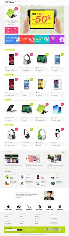 Responsive Magento Theme #ecommerce #website Download: http://themeforest.net/item/optician-responsive-magento-theme/9589364?ref=ksioks
