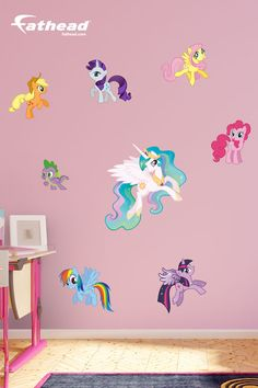My Little Pony Fatheads | These decals come in a variety of sizes, so you can decorate any room with them. These wall decals are removable and reusable, you can move them to a bedroom or playroom SHOP  http://www.fathead.com/kids/my-little-pony/my-little-pony-collection-wall-decal/ DIY Girls Bedroom Decor Ideas | Fathead Wall Decals|Custom Decals | Wall Murals | New Baby | Girls Bedroom