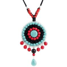 ISHOW Elastic Adjustable Vintage Classic Tassels Necklace Agate Beads... (10 CAD) ❤ liked on Polyvore featuring jewelry, necklaces, beaded tassel necklace, beaded pendant necklace, tassle necklace, agate pendant necklace and vintage pendants