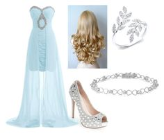 """Cinderella night "" by katelyn-dowdy ❤ liked on Polyvore featuring beauty and Lauren Lorraine"