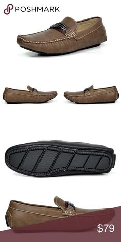 """NEW Mens Bruno Italy Driving Casual Loafers Shoes NEW   Men's No Lace Driving Loafers Penny Loafers Boat Shoes Color: Brown  Features:  Faux Leather Italian Style  Moc Toe Stitching Vamp Lightweight  Flexible and Comfort Heel height approx 0.5""""  Cushioned manmade Footbed   A great and comfortable design. A lightweight flexible shoe with a durable non skid outsole.   @alexambrands ALexam aLexam-modbro Shoes Loafers & Slip-Ons"""