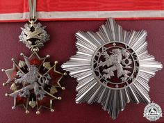 A Czechoslovakian Order of the White Lion; Grand Officer with Original Case