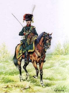 Ufficiale dei cacciatori a cavallo della guardia imperiale francese