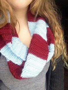 Wine and Silver Blue Infinity Scarf ... must have!