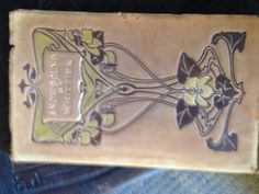 ANTIQUE BOOK Snowbound by Whittier  Leather cover  by LAMOREBOHEME, $30.00