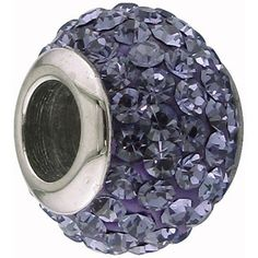 Connections From Hallmark Stainless Steel Tanzanite Crystal Bead Pandora Bracelets Bracelet Charms Charm