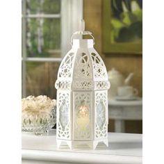 6 Creamy White Lantern Candleholder Wedding Centerpieces #Unbranded