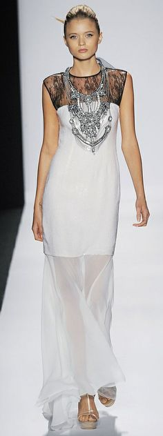 Abbey Lee Kershaw at Badgley Mischka, Spring 2010