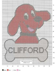 CLIFFORD WALL HANGING by CREATIVECANVASCRAFTS.COM