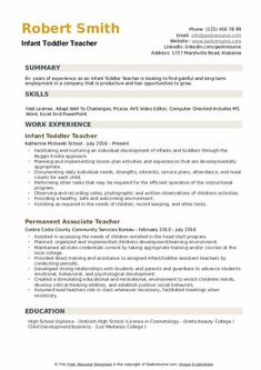 7 Infant Teacher Resume 2 Engineering Resume Templates, Teacher Resume Template, Best Resume Template, Cv Template, Job Resume Examples, Cv Examples, Resume Tips, Rhyming Worksheet, Printable Worksheets