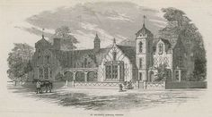St Michael's Schools in PImlico, London. Published in the Illustrated London News, 9 September 1848.