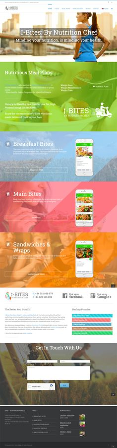 Custom WordPress design, using full screen sections, 100% screen use of images and parallax backgrounds. I-Bites restaurant in Marbella chose this design to flagship their new healthy food restaurant in Marbella. WordPress & Woocommerce make the complete package for the fully responsive mobile friendly website 2017.