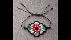 Beaded and Corded Bracelet Seed Bead Earrings, Beaded Earrings, Beaded Jewelry, Crochet Earrings, Seed Bead Tutorials, Beading Tutorials, Loom Patterns, Beading Patterns, Perler Beads