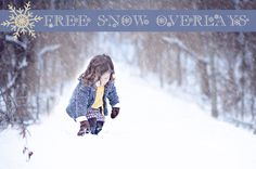 Free Snow Overlay Download for Photoshop and Photoshop Elements