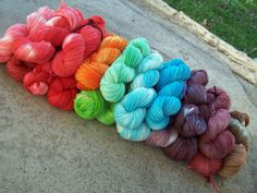 Another way to dye yarn using Kool Aid and the sun.