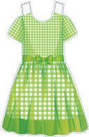 Green #gingham #dress with a bow