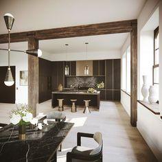 NYC Loft, Open Kitchen Kitchen Contemporary by DJDS