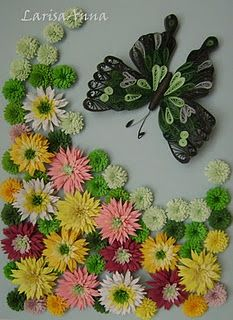 quilling - flowers and butterfly