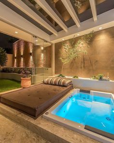 [New] The Best Home Decor (with Pictures) These are the 10 best home decor today. According to home decor experts, the 10 all-time best home decor. Hot Tub Backyard, Small Backyard Pools, Backyard Patio Designs, Indoor Swimming Pools, Swimming Pool Designs, Spa Interior, Interior Design, Jacuzzi Outdoor, Terrace Design