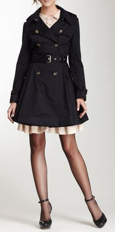 RED Valentino Double Breasted Belted Coat