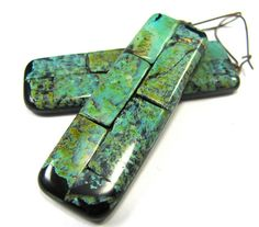 Fabulous Faux Collection - Brick Mosaic African Turquoise Earrings by DivaDesigns1