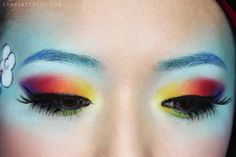"From Head To Toe: My Little Ponies ""Rainbow Dash"" Makeup Tutorial"