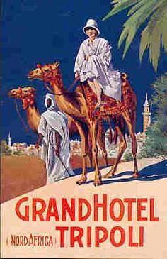Old Libya travel poster