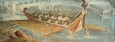 Fresco of a Roman ship. Naples, Archaeological Museum.