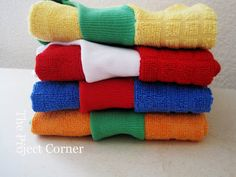 Towel bibs--someone gave me some store bought ones years ago.  Great idea to make your own!