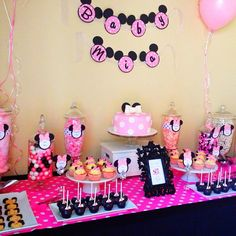 MINNIE MOUSE CANDY BUFFET | Los Angeles Candy Buffet, Dessert Buffet, Sweets Bar, Sugar Buffet ...