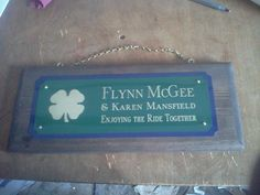 Happy St. Patrick's Day!  Two-Tone Graphic Horse Stall Sign: Complimentary metals with Graphic - $50.99  http://www.starfishfarms.com/horse/stallplates/woodsigns/2tone_graphic.html