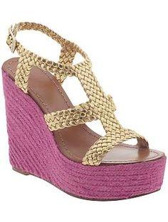 0d5360bdcf32 Kate Spade Gold   Pink wedges Kate Spade Wedges