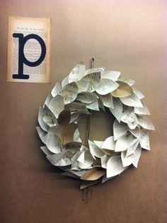 paper wreath.