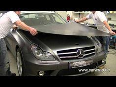 Mercedes CLS full Car-Wrap in 3M anthrazit metallic matt