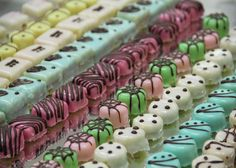 PETIT FOUR - singular. PETITS FOURS - plural. Definition: A very small fancy cake, biscuit, or sweet, typically made with marzipan and served after a meal.