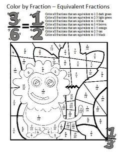 math worksheet : equivalent fractions worksheetsthese coloring sheets make  : Equivalent Fractions Worksheet 4th Grade