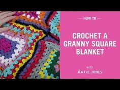 VERY EASY crochet granny square blanket - never ending crochet granny square baby blanket - YouTube