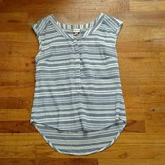 Blouse This is a striped light blue and white blouse size medium in good condition . Merona Tops Blouses