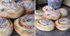 pudingos-turos-tekercs Hungarian Recipes, Russian Recipes, Healthy Deserts, Healthy Recipes, Baked Camembert, Pan Dulce, Cookie Desserts, Cake Cookies, No Bake Cake