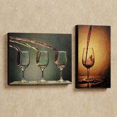 Wine Splash Wall Art Panel Set
