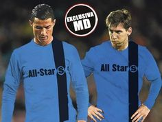 Montaje de Cristiano y Messi con la camiseta de un hipotético equipo All-star del Sur de Europa