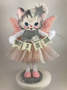 Your place to buy and sell all things handmade Christmas Wood, Christmas Cats, Vintage Christmas, Christmas Ornaments, Xmas, Cat Crafts, Crafts For Kids, Paper Crafts, Vintage Easter