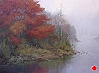 Misty Morning by Kathleen Dunphy Oil ~ 18 x 24
