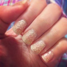 Glitter and Sparkles. Shellac nails!