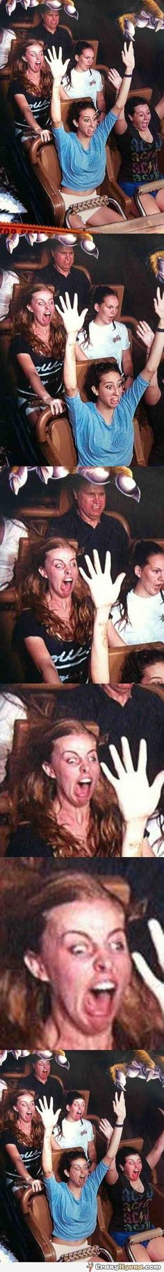 Funniest face swap on a roller coaster!!!!!