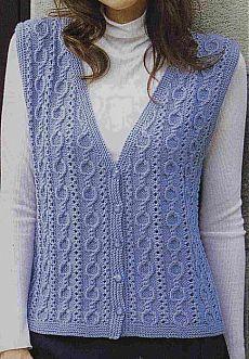 Damen-Weste, Modell Derya Baykal Damen-Weste, Modell For all seasons . Knit Vest Pattern, Knitting Patterns, Crochet Fashion, Lace Knitting, Preppy Style, Knitting Designs, Knit Crochet, Crochet Hair, Knitwear