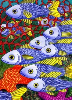 "Sold another print of ""Yellow Fins""  This painting seems to be gaining in popularity!"