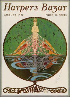 Portada de Harper's Bazar de agosto 1922 de Erté. Por cierto, entonces todavía se llamaba Harper's Bazar, luego se llamó Harper's Bazaar.