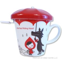 Little Red Umbrella Mug Cup