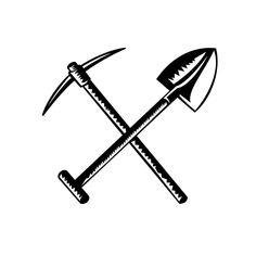Axe Drawing, Axe Tattoo, Pick Axe, Black And Grey Tattoos, Shovel, Cricut Ideas, Art Images, Vector Art, Old School